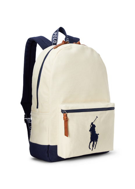 Ralph Lauren Washed Cotton Canvas Backpack