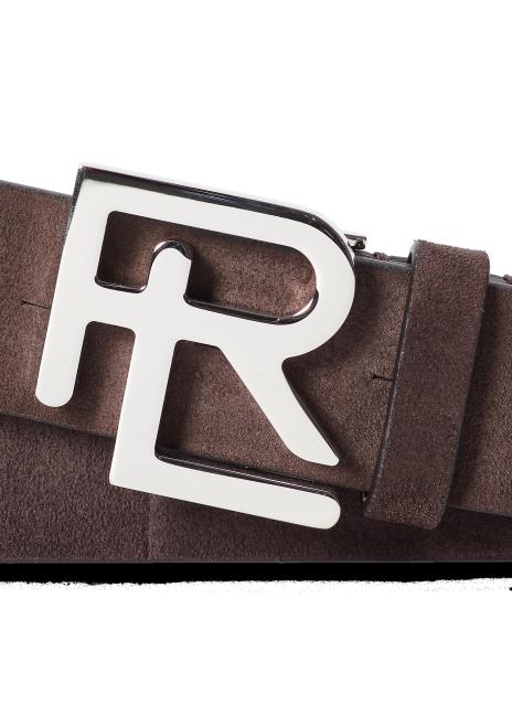 Ralph Lauren RL-Buckle Suede Belt