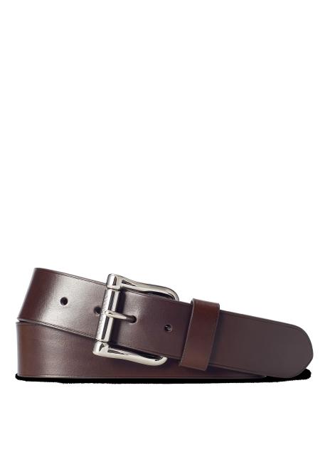 Ralph Lauren Leather Roller-Buckle Belt