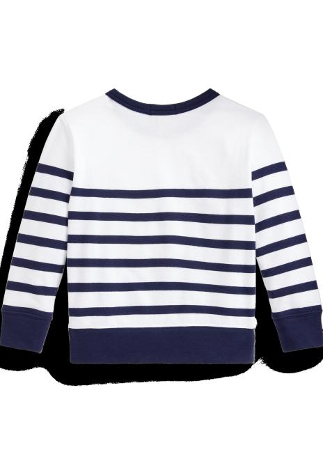 Ralph Lauren Striped Spa Terry Sweatshirt