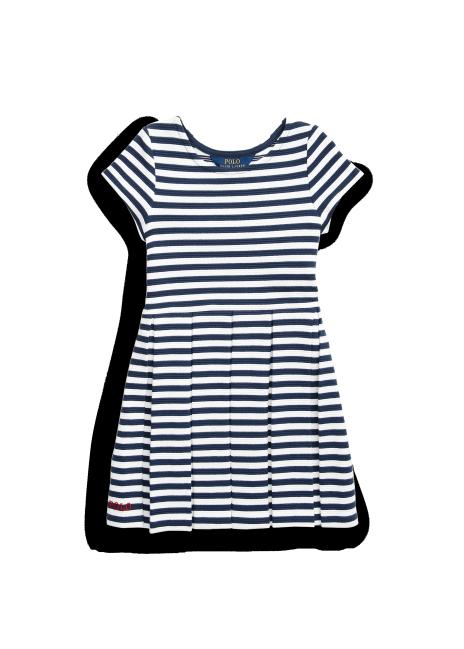 Ralph Lauren Striped Ribbed Dress