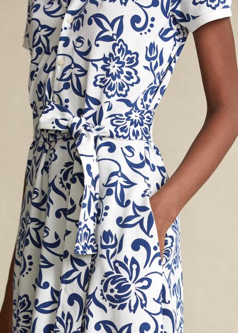 Ralph Lauren Floral Belted Cotton Dress