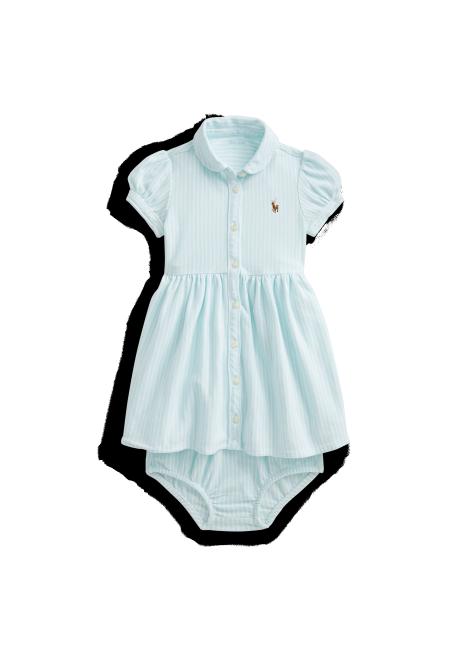 Ralph Lauren Striped Oxford Dress & Bloomer