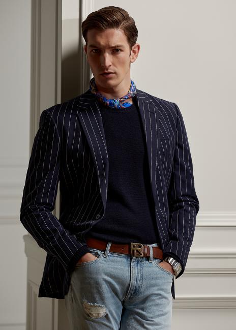 Ralph Lauren Kent Striped Twill Suit Jacket