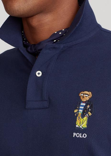 Ralph Lauren Custom Slim Fit Polo Bear Polo Shirt