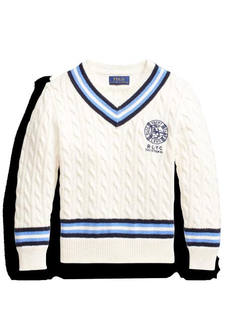 Ralph Lauren Embroidered Cotton Cricket Sweater