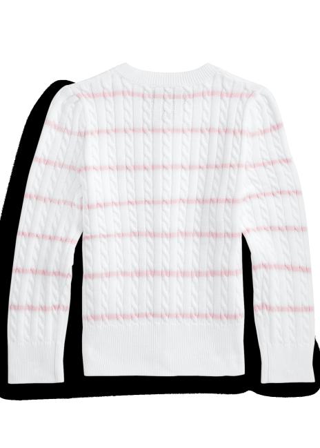 Ralph Lauren Striped Mini-Cable Cotton Cardigan
