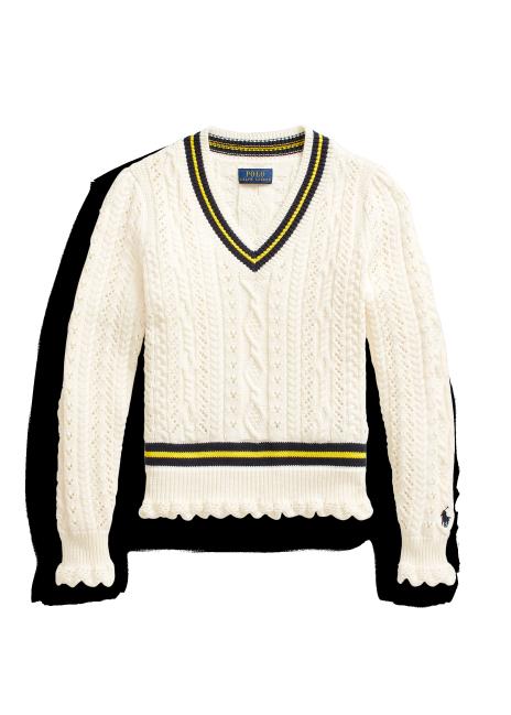 Ralph Lauren Cable-Knit Cotton Cricket Sweater