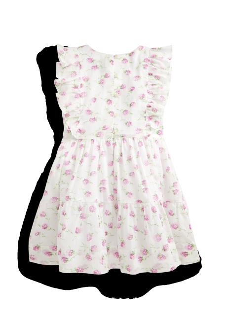 Ralph Lauren Floral Pintucked Cotton Dress