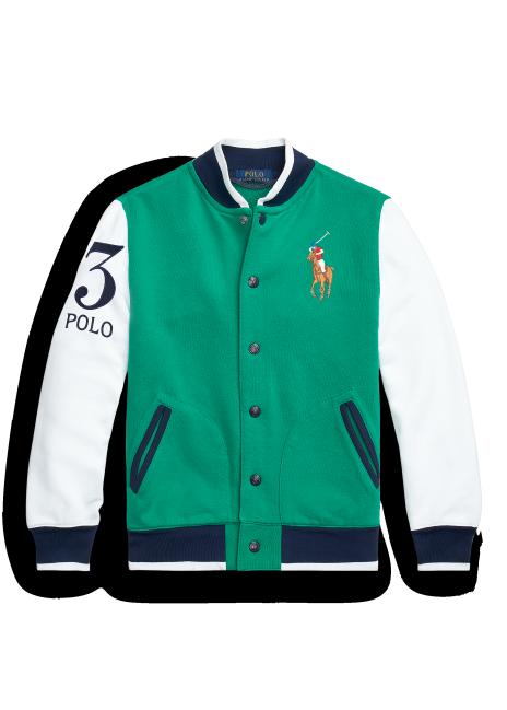Ralph Lauren Twill Terry Baseball Jacket