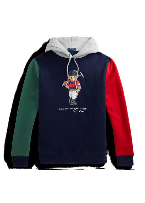 Ralph Lauren Polo Bear Color-Blocked Fleece Hoodie