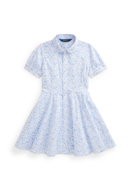 Ralph Lauren Floral Anchor Cotton Shirtdress