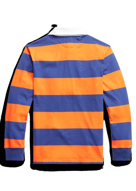 Ralph Lauren Striped Cotton Jersey Rugby Shirt