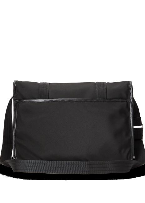 Ralph Lauren Leather-Trim Messenger Bag