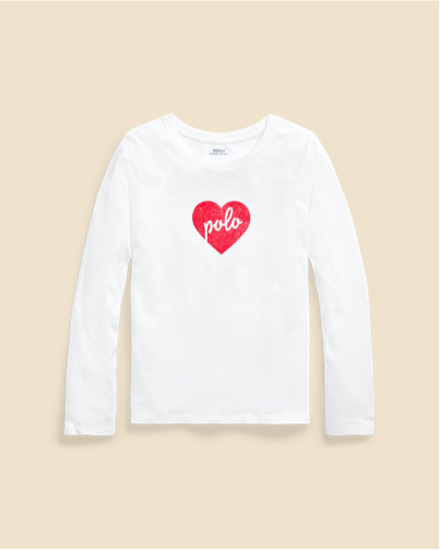 Ralph Lauren Polo Heart Cotton Jersey Tee