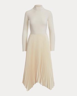 Ralph Lauren Long-Sleeve Mockneck Dress