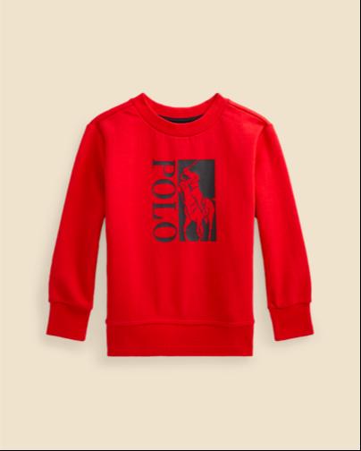 Ralph Lauren Big Pony Logo Double-Knit Sweatshirt