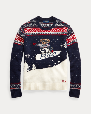 Ralph Lauren Snowboarding Bear Sweater