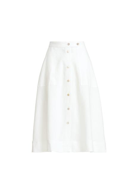 Ralph Lauren Buttoned Linen Skirt