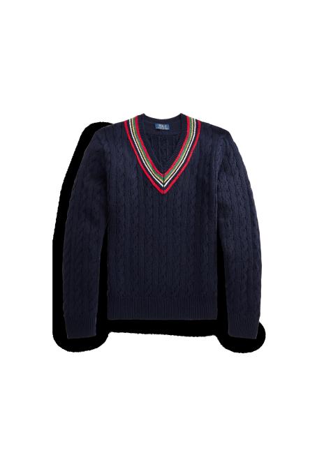 Ralph Lauren Cotton-Cashmere Cricket Sweater