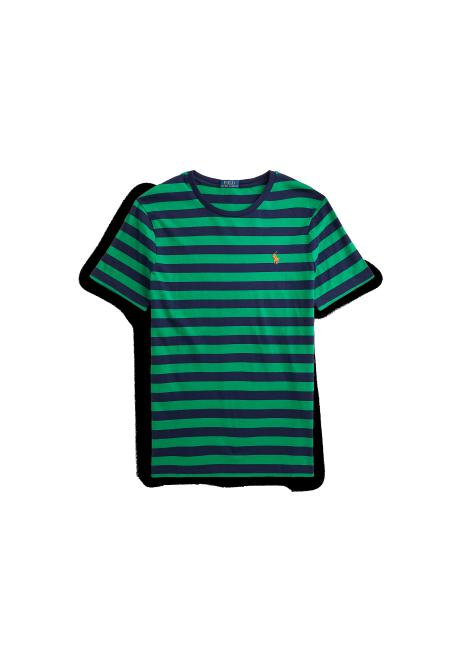 Ralph Lauren Custom Slim Fit Striped Crewneck T-Shirt