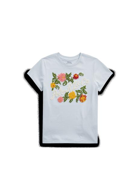 Ralph Lauren Embroidered Floral Jersey Tee