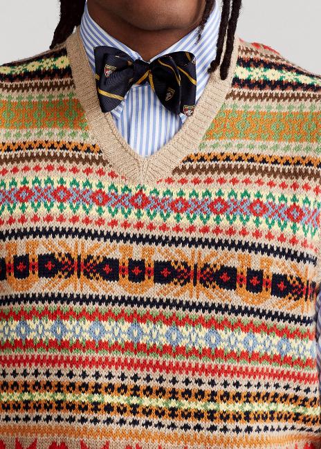 Ralph Lauren Fair Isle Cotton-Blend Sweater Vest
