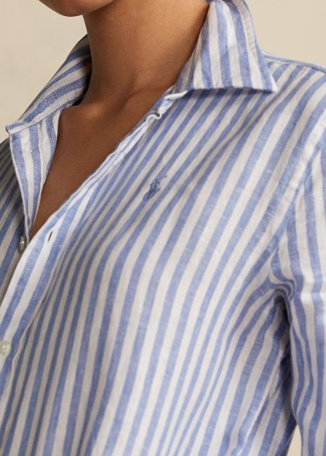 Ralph Lauren Relaxed Fit Striped Linen Shirt